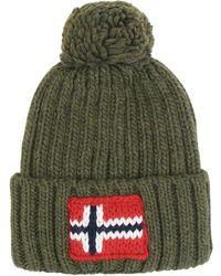 Lyst - Napapijri Logo Cotton Strapback Cap in Pink for Men af4ac901ff6d