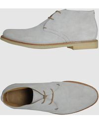 Fabi - Suede High-Top Desert Boots - Lyst