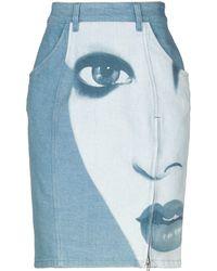 Jeremy Scott - Denim Skirt - Lyst