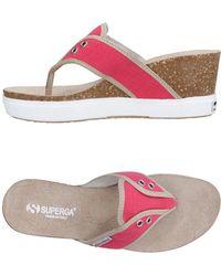 Superga - Toe Post Sandal - Lyst