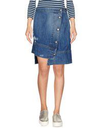Vivienne Westwood Anglomania Denim Skirt - Blue