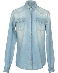 2W2M - Denim Shirt - Lyst
