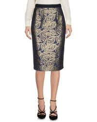 Pf Paola Frani - Knee Length Skirts - Lyst