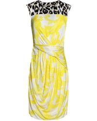 Issa - Oralee Printed Stretch-jersey Mini Dress - Lyst