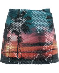 Laneus - Tropical Print Mini Skirt - Lyst