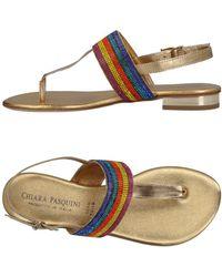 Chiara Pasquini - Toe Strap Sandals - Lyst