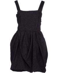 Lanvin - Dress with Peplum Back - Lyst