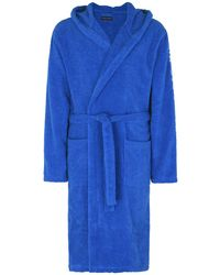 Emporio Armani - Towelling Dressing Gown - Lyst