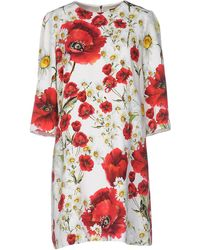 3a48224f Dolce & Gabbana Mice Sewing Short-sleeve Dress in White - Lyst