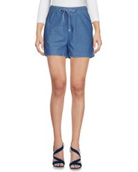 Ichi - Denim Shorts - Lyst