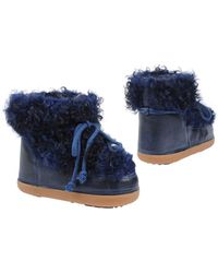 Ikkii - Blue Calgan Low Shearling-Lined Boots - Lyst