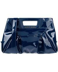 Armani Jeans Medium Embossed Logo Patent Vinyl Bag in White - Lyst f6a723a42ca50