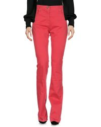 Class Roberto Cavalli Casual Trousers - Red