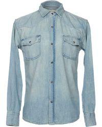 Current/Elliott - Denim Shirt - Lyst