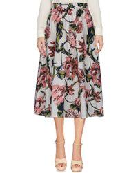 Ichi - 3/4 Length Skirt - Lyst