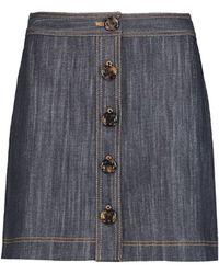 Adam Lippes - Denim Mini Skirt - Lyst