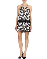 Thakoon Addition - Ruffled Floral-print Romper - Lyst