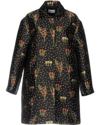 RED Valentino - Blooming Garden-jacquard Round-collar Coat - Lyst