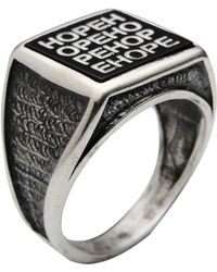 First People First - Silver Hope Ring - Lyst