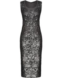Donna Karan - Knielanges Kleid - Lyst