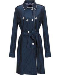 Blue Les Copains - Overcoat - Lyst
