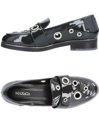 MAX&Co. - Patent Moccasins With Jewel Decoration - Lyst