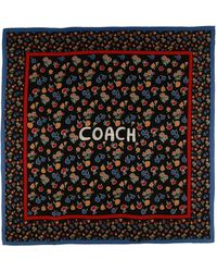 COACH - Square Scarf - Lyst