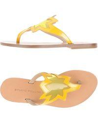 Studio Pollini - Toe Post Sandal - Lyst