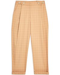 TOPSHOP Casual Trouser - Natural