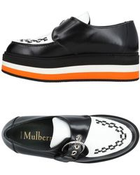 Mulberry | 'flag' Woven Vamp Monk Strap Leather Platforms | Lyst