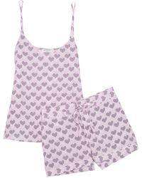 Equipment - Layla Printed Washed-silk Pyjama Set - Lyst