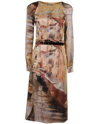 Alberta Ferretti - 3/4 Length Dress - Lyst