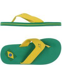 EA7 - Toe Post Sandal - Lyst