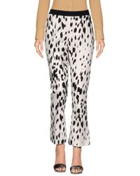 Twin Set - Brush Print Cropped Trousers - Lyst