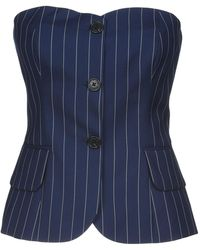 Ralph Lauren Collection - Pinstripe Corset Top - Lyst