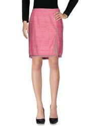 Blue Les Copains - Knee Length Skirt - Lyst