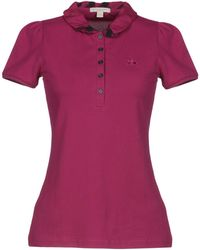 4441077bcd82 Lyst - Burberry Polo Shirt in Purple