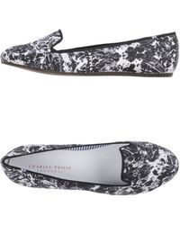 Charles Philip - Graffiti-Print Faux-Leather Moccasins - Lyst