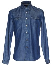 Hydrogen - Denim Shirt - Lyst