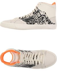 Alexander McQueen X Puma - Printed Leather High-Top Trainers - Lyst bf61e5718