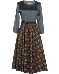 Niu - 3/4 Length Dress - Lyst