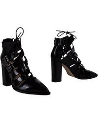 da38af74b3e0 Lyst - Loeffler Randall Mercer Leather Ankle Boots in Black