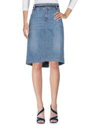 BOSS Black - Denim Skirts - Lyst