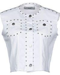 Silvian Heach Denim Outerwear - White