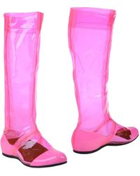 Fessura | Transparent Knee-High Boots | Lyst