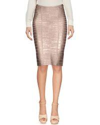 Hervé Léger - Knee Length Skirts - Lyst