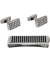 Emporio Armani - Cufflinks And Tie Clips - Lyst