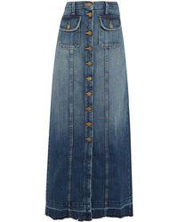 Current/Elliott - The Sally Denim Maxi Skirt - Lyst