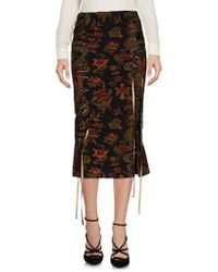 John Richmond - 3/4 Length Skirt - Lyst