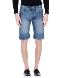 Originals By Jack & Jones - Denim Bermudas - Lyst